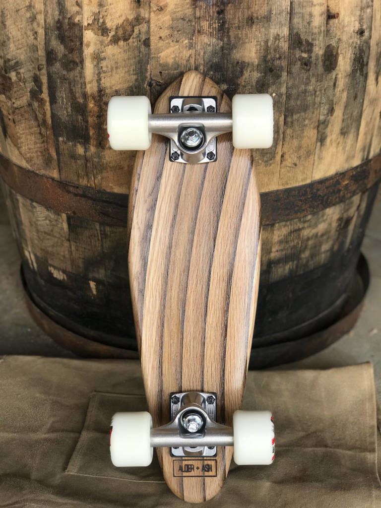 whisky-fass skateboard